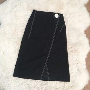 Zara navy midi skirt with slit size medium